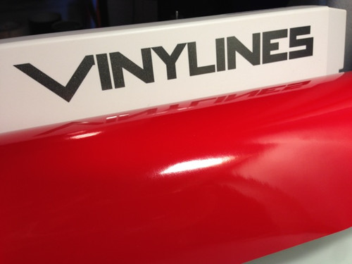 Glossy Red Vinyl Material