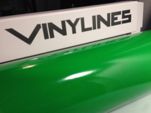 Glossy Green Vinyl Material