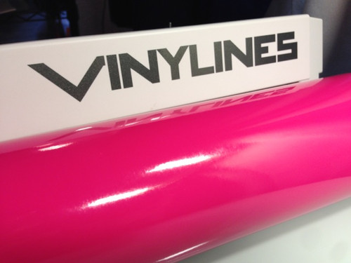 Glossy Pink Vinyl Material