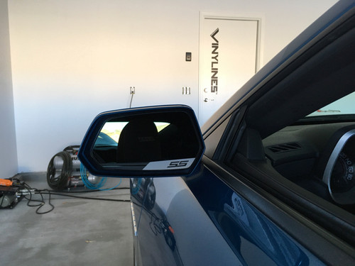 Drivers Side Mirror Angled Vinyl Decal Accent