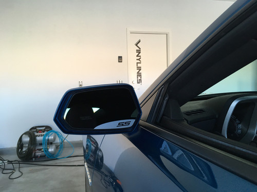 Camaro Rounded SS Side Mirror Accent Decals