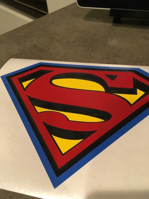 Classic Superman Symbol with 3D Look, Extra Background