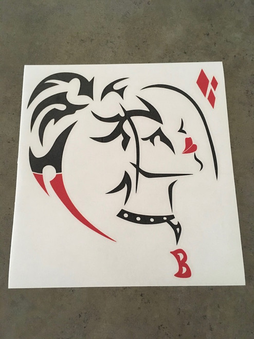 Glossy Black and Red Decal using clear transfer tape