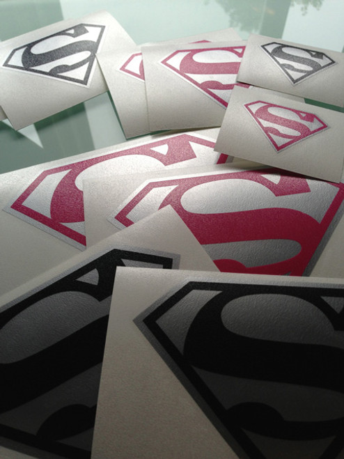 Various two color classic Superman symbol decals
