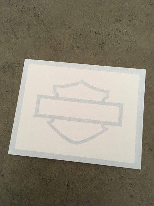 Thick Bar and Shield Outline Paint Stencil