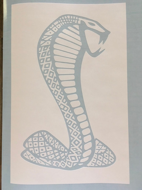White paint stencil shown