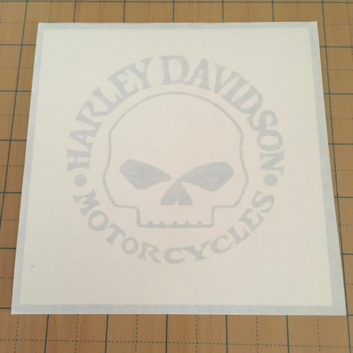 White stencil material and opaque transfer tape