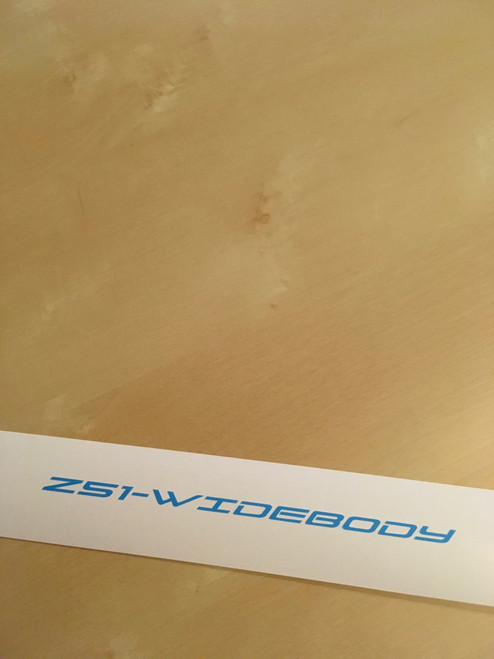 Decal shown in the blue stencil material, no transfer tape