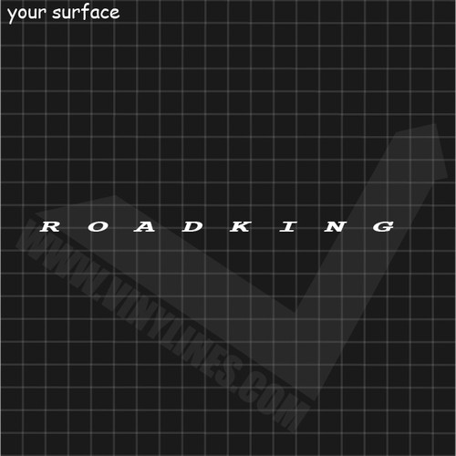ROADKING Text Decal