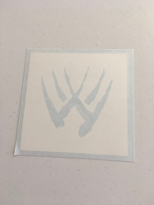 Opaque white stencil vinyl and transfer tape