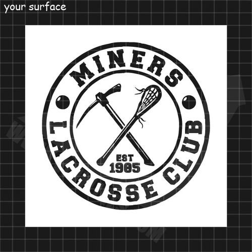 Miners LaCrosse Club Logo Stencil
