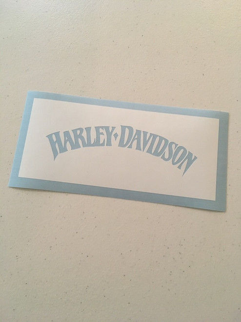 Harley-Davidson Arched Dagger Text Stencil