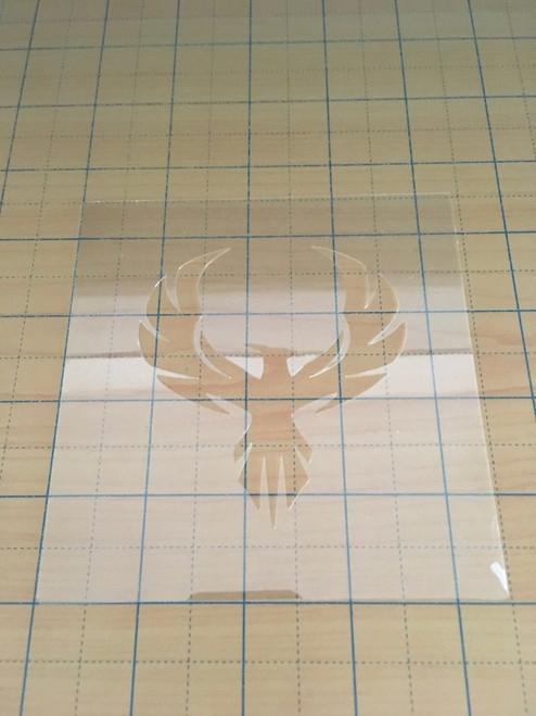 Clear semi-rigid stencil