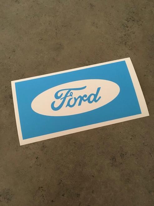 Ford Logo Solid no Ring Stencil