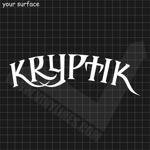 The Word Kryptik Decal