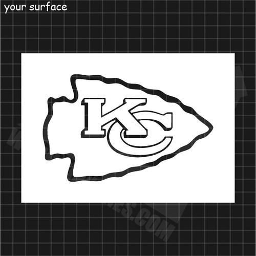 KC Chiefs Logo Stencil