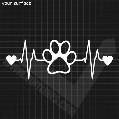 Pet Heartbeat Love Decal
