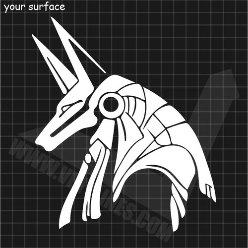 Anubis Head Decal