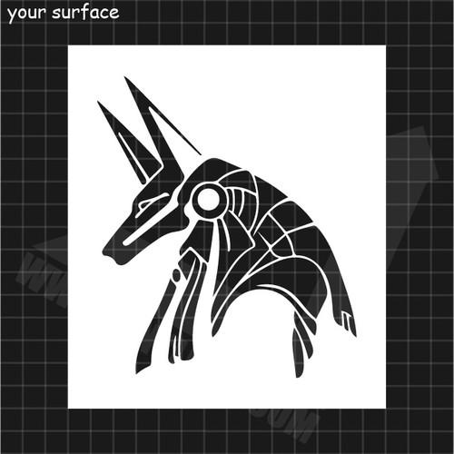 Anubis Head Stencil