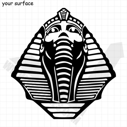 Pharaohs Head Mask Decal