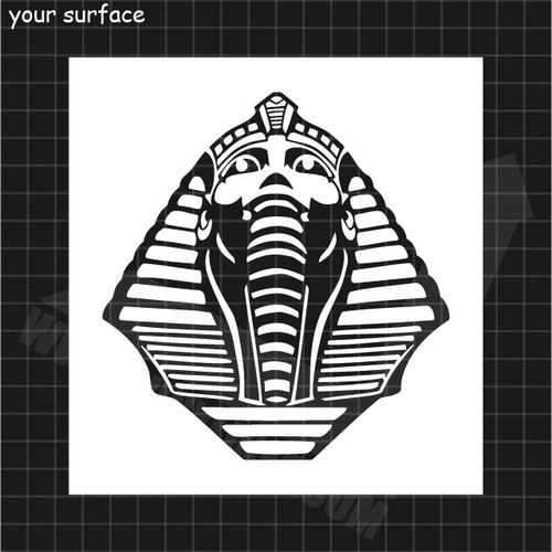 Pharaohs Head Mask Stencil