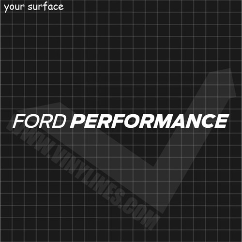 Ford Performance Italic Block Font Decal