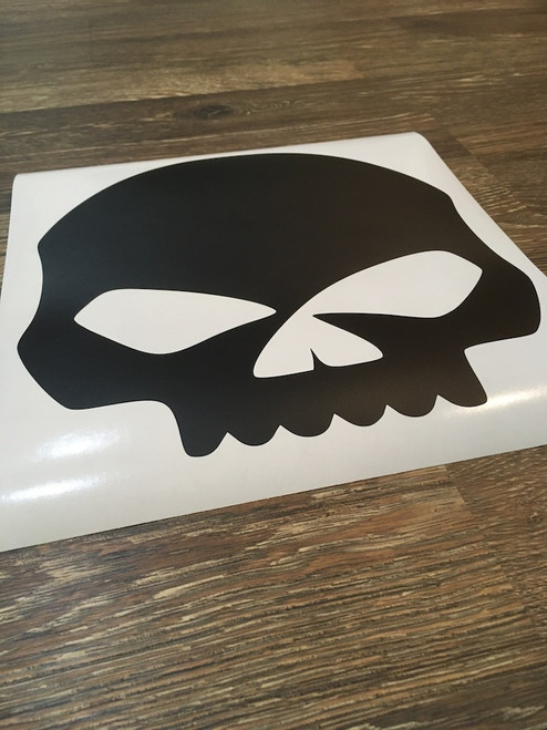 Solid Willie G Skull Decal