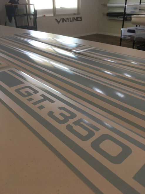 1966 Ford Shelby GT350 Mustang Side Stripe Paint Stencils