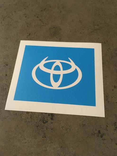 Toyota Logo with Devil Horns Stencil