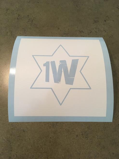 1 West Logo Stencil