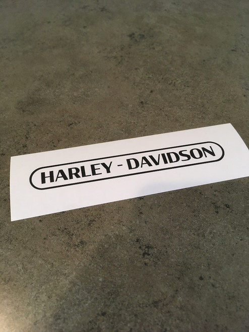 Harley-Davidson Text with Ring Decal