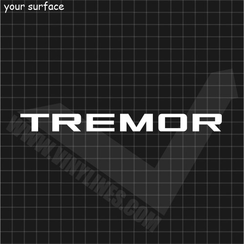 Ford Tremor Decal - Solid 1 Color