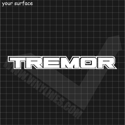 Ford Tremor Decal - 1 Color Solid Center