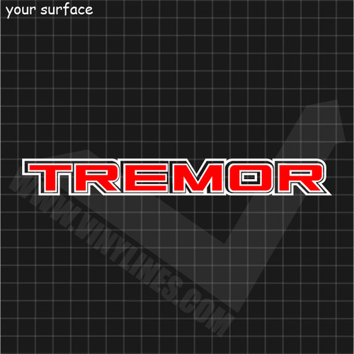 Ford Tremor Decal - 2 Color Solid Center