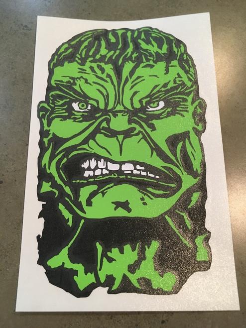 Hulk Head Decal - 3 Color