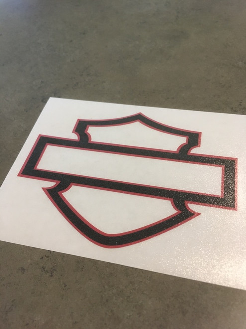Shown with clear transfer tape