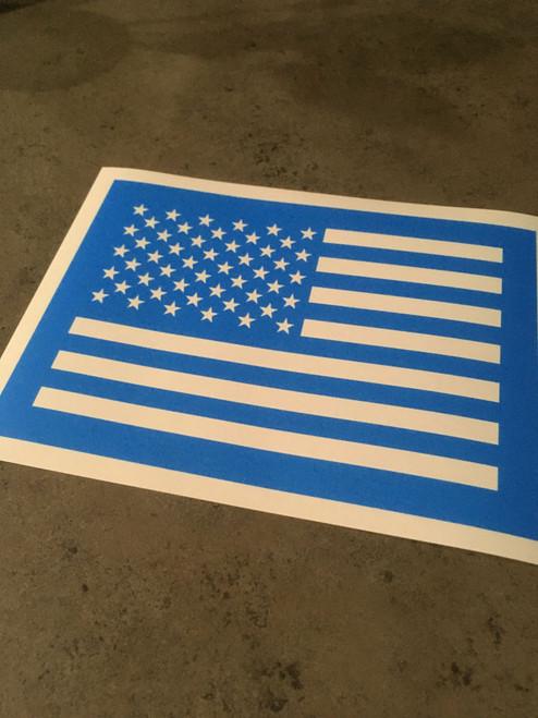 Short US Flag Stencil