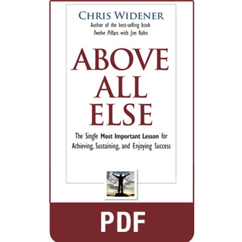 Above All Else PDF eBook Edition by Chris Widener