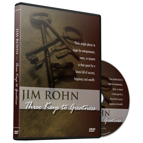 Three Keys to Greatness DVD by Jim Rohn