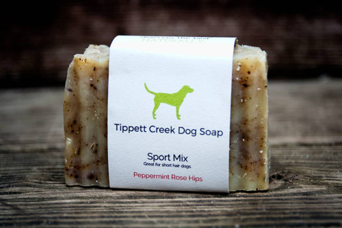 Peppermint Rose Hips Dog Soap Bar