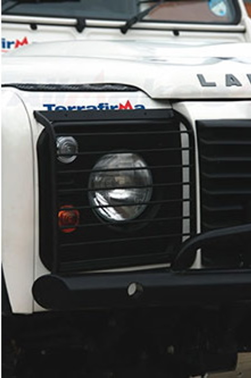TRAVALL DEFENDER FRONT HINGED LIGHT GUARDS