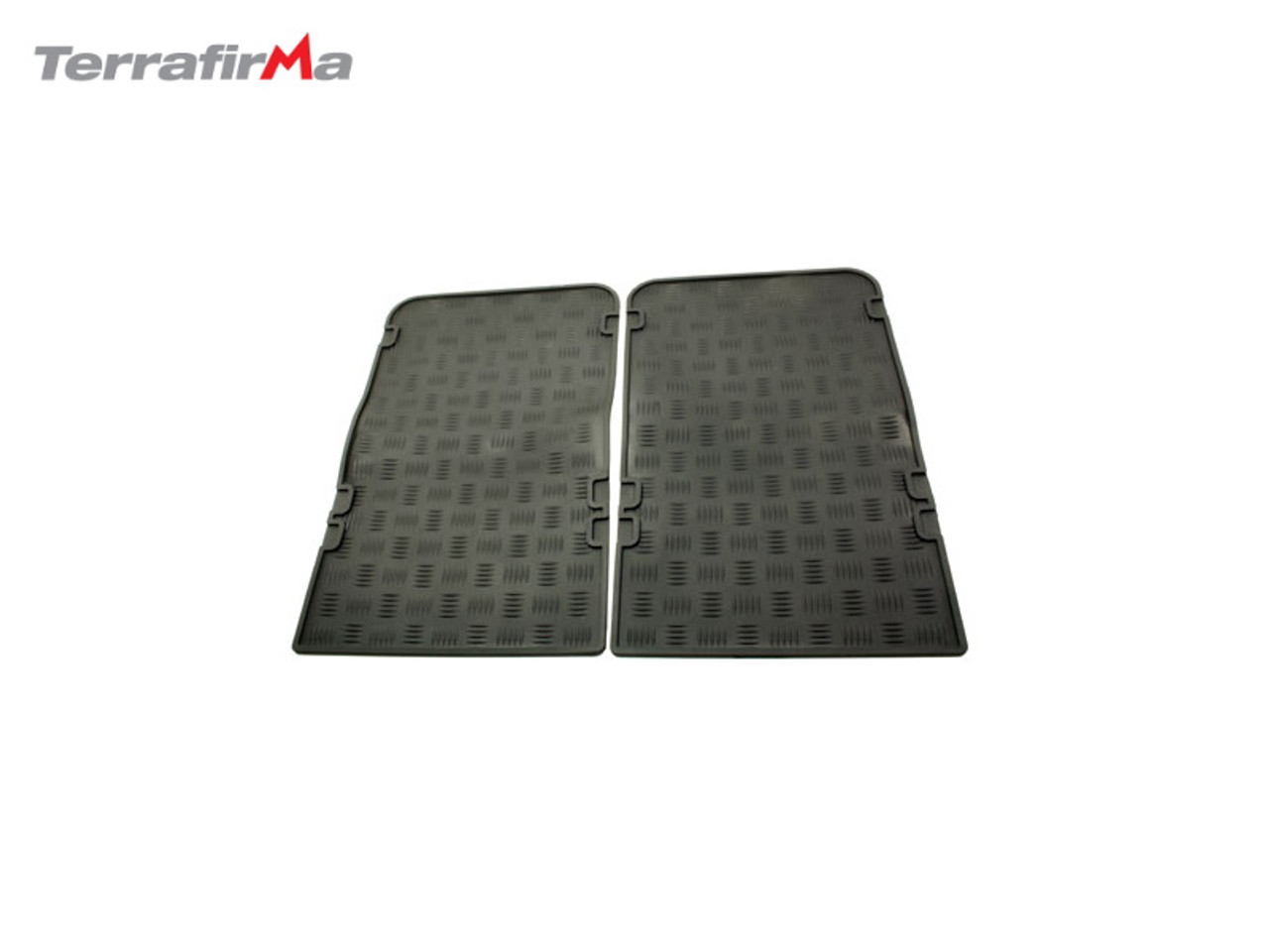 EXMOOR TAILER FITTED DEFENDER REAR RUBBER MATS