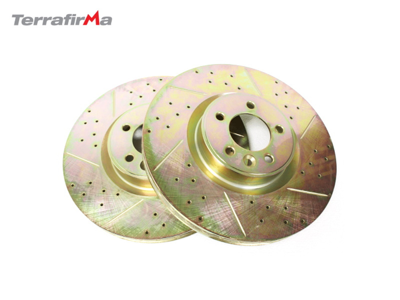 Terrafirma Front Drilled and Grooved Discs for Range Rover L405 and L494