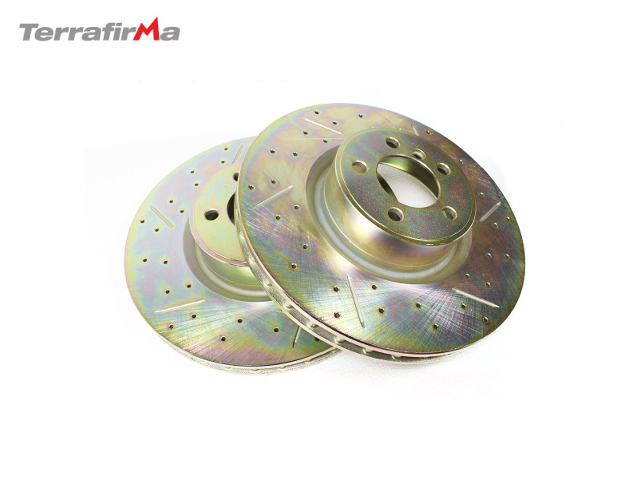 Terrafirma Front Drilled and Grooved Discs for Range Rover L322
