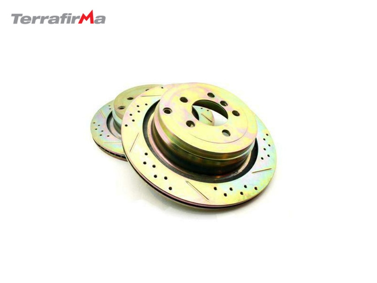 Terrafirma Rear Drilled and Grooved Discs for Range Rover L322