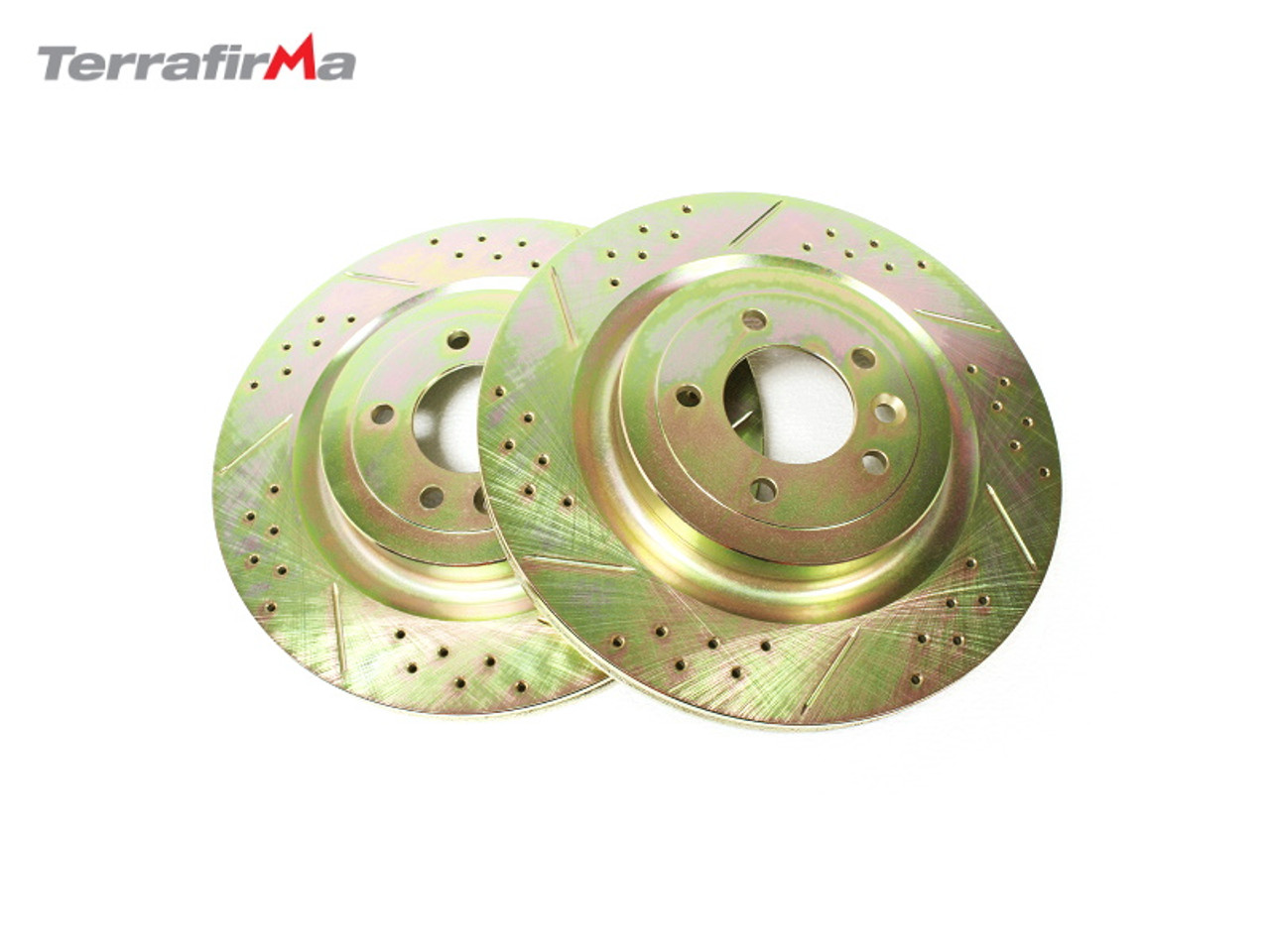 Terrafirma Rear Drilled and Grooved Discs for Range Rover L405 and L494