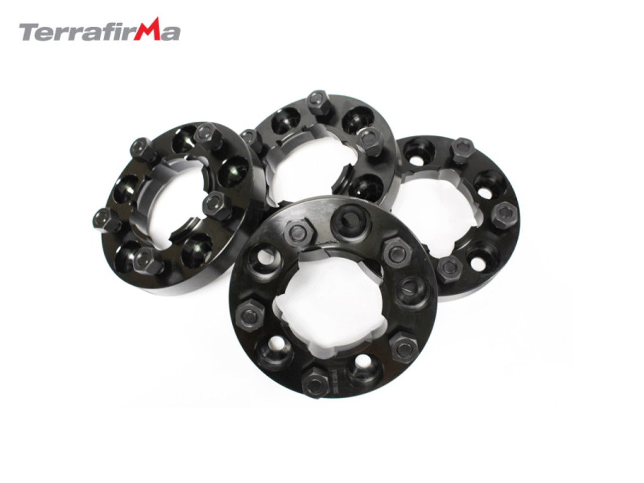 TERRAFIRMA 30MM BLACK ALLOY WHEEL SPACERS DEF/D1/RANGE ROVER CLASSIC