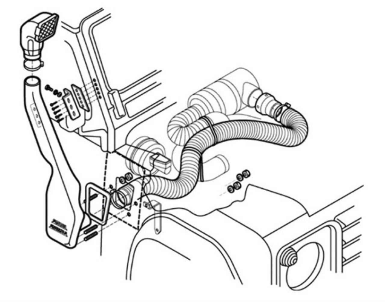 Safari Raised Air Snorkel For Defender V8