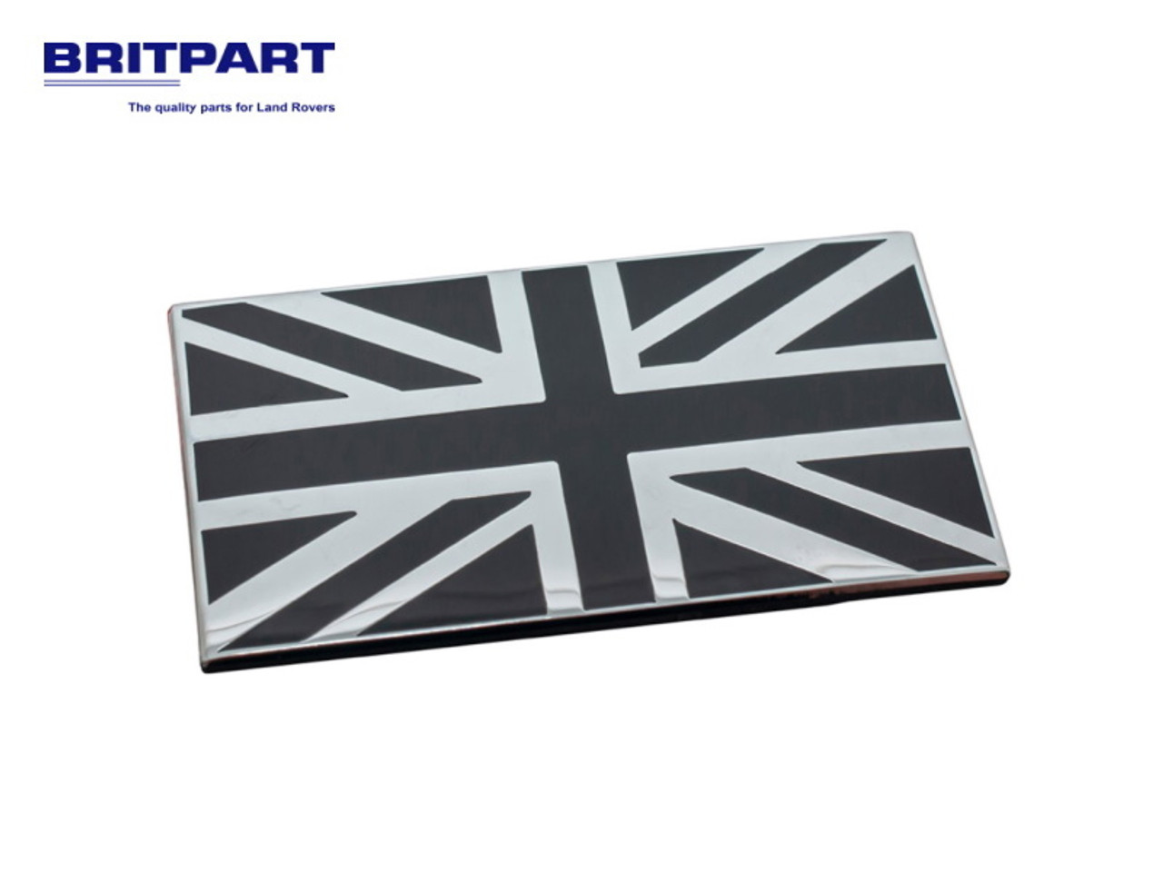 Britpart Black And Chrome Union Jack Badge - DA7637