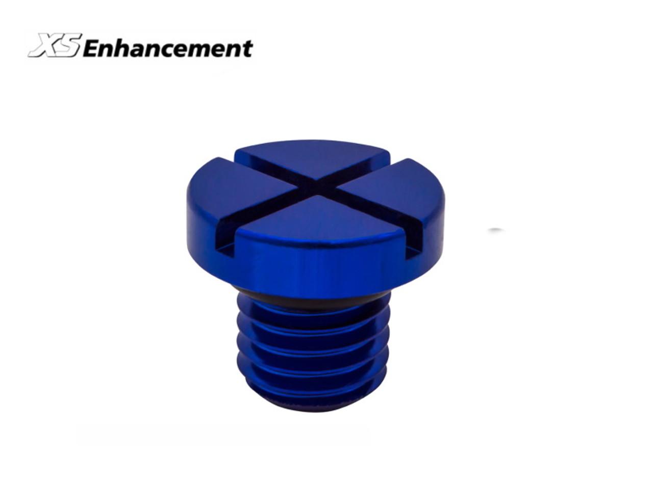 XS Enhancement Blue 21mm Bleed Screw - LR055301BLUE